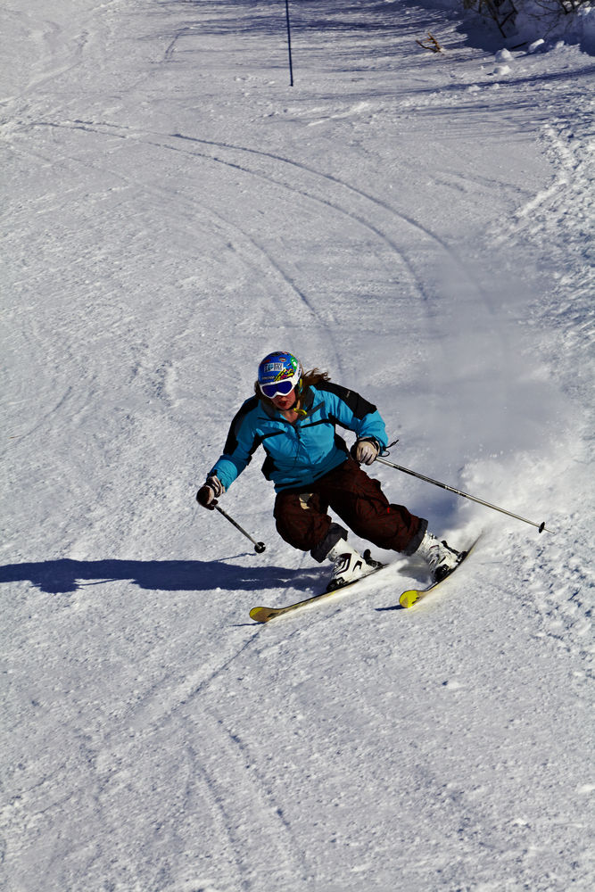 Practice you skiing technique