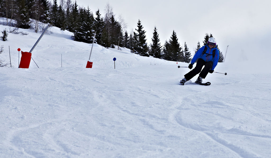 Skiing the pistes