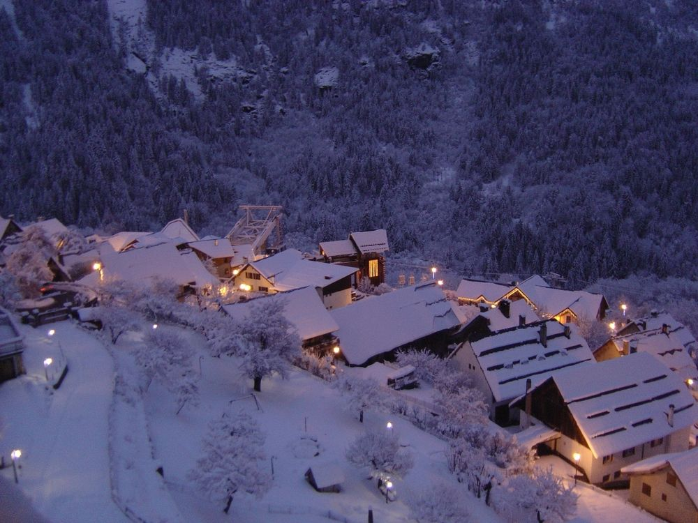 Looking down to lift station at dusk